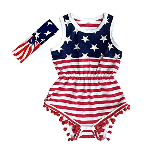 Hollyhorse July 4th Baby Girl Clothes (XL(2-3T), with (Toddler Girls Boutique Clothing)