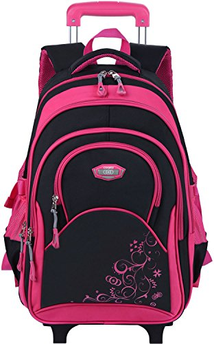Rolling Backpack for Girls COOFIT Rolling School Backpack Girls with Wheels Laptop Backpack Roller Backpack