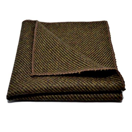 Brown Sharkskin Pocket Square, (Mens Brown Sharkskin)