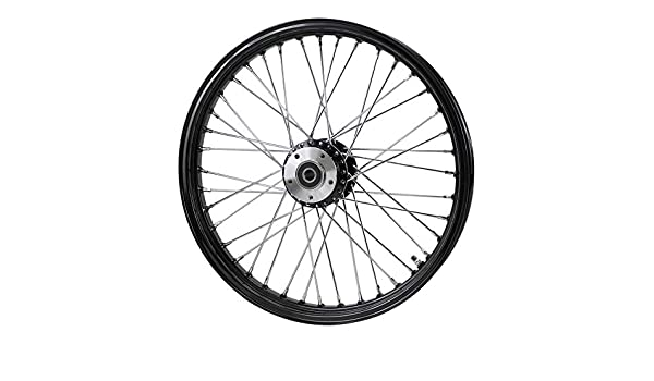 Billet Hub Chrome Front 40 Spoke Wheel 21x 2.15 fits Harley FXD 2000-03,Sportster 2000-07