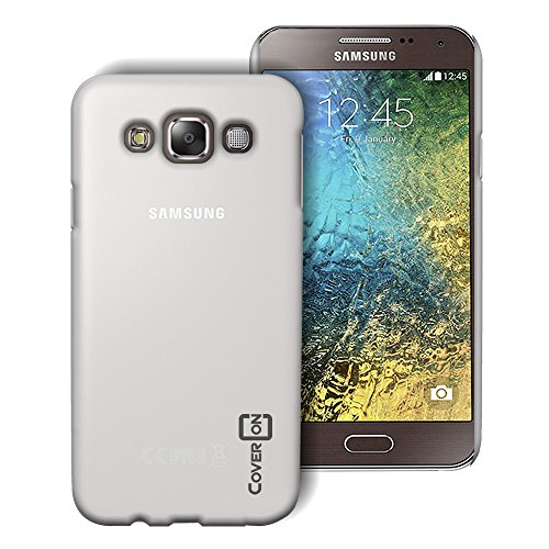 Samsung Galaxy E5 Case (Clear) by CoverON [Slender Fit] Series Hard Protective Slim Back Phone Cover