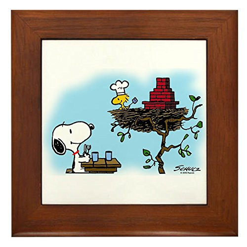 CafePress - Order Up! - Framed Tile, Decorative Tile Wall - Framed Tile Chef