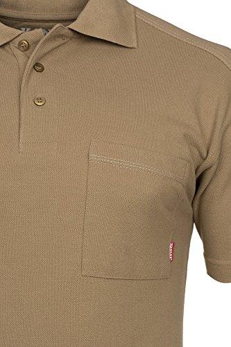 FRISTADS KANSAS Match Poloshirt Polo Herren Polohemd T-Shirt Khaki 100780 210