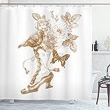 Ambesonne Victorian Shower Curtain, Nostalgic Boots