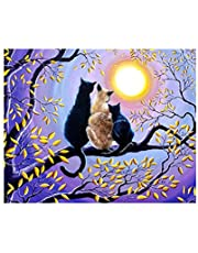 Daseey DIY 5D Diamond Painting Cross Stitch Full Drill Crystal Pictures Arts Craft for Home Wall Decor Gift