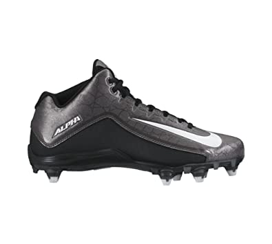 9e38cbc49b2a New Nike Men s Alpha Strike 2 3 4 D Football Cleat Black Dark Grey