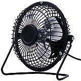 KTYX USB Full Metal Mini Desktop Fan/Fan / Fan fan (Color : BLACK)