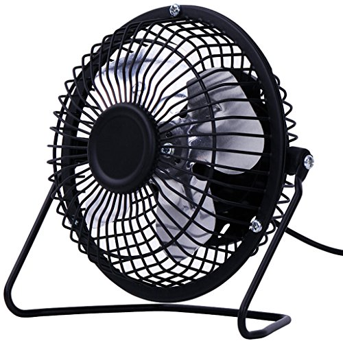 KTYX USB Full Metal Mini Desktop Fan/Fan / Fan fan (Color : BLACK) by KTYX