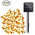 Solar String Lights,iMazer Bumble Bee Decorations Light 30 LED for Outdoor Garden Folwer Fence Tree Face Decor Honey Bee Shaped,Warm White LD010