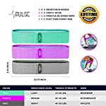 NATARIFITNESS..COM  51saYsvUiWL._SS150_ Pulse Athletics Resistance Bands for Legs and Butt, 3 Nonslip Booty Bands, Exercise Bands, Glute, Thigh and Hip Training…