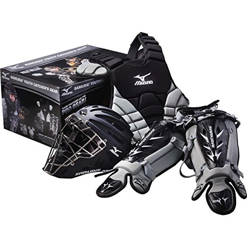Mizuno Youth Samurai Boxed Catcher's Set BLACK/GRAY (Mizuno Set Catcher)