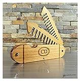 Walnut Wood and Bamboo Beard and Mustache Folding Comb, Pocket Knife Style