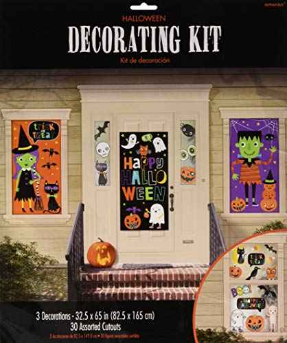 Amscan 670776 Halloween Friends Mega Value Pack Scene Setters Wall Decorating Kit, Multicolor, 15.8 x 0.2 x 20.1 inches ; 11.2 ounces