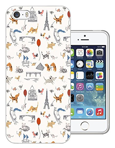 002830 - Travel Paris Egypt Cats Dogs Pets Balloons Design iphone 4 4S Fashion Trend CASE Gel Rubber Silicone All Edges Protection Case Cover