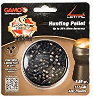 Gamo 632274054 Lethal (Up to 38% More Accuracy) .177 Cal. Qty 100 Blister Pk Black