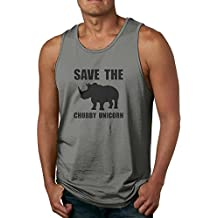 Mens Athletic Vest Save The Chubby Unicorns Rhino