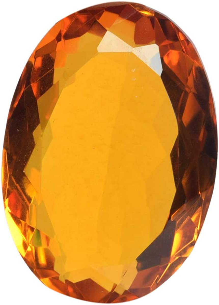 102.20 Ct Citrine Perfect Oval Gem Stone Gemstone Faceted Yellow Citrine for Jewelry