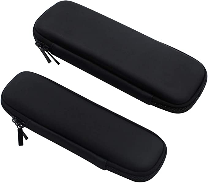 NewZC 2 Unidades Duro EVA Estuche para Lapices Negro Caja de la Plumade Bolsa Rigido Caja Protectora para Lapices Plumas Bolígrafos Apple Pencil Auriculares: Amazon.es: Oficina y papelería