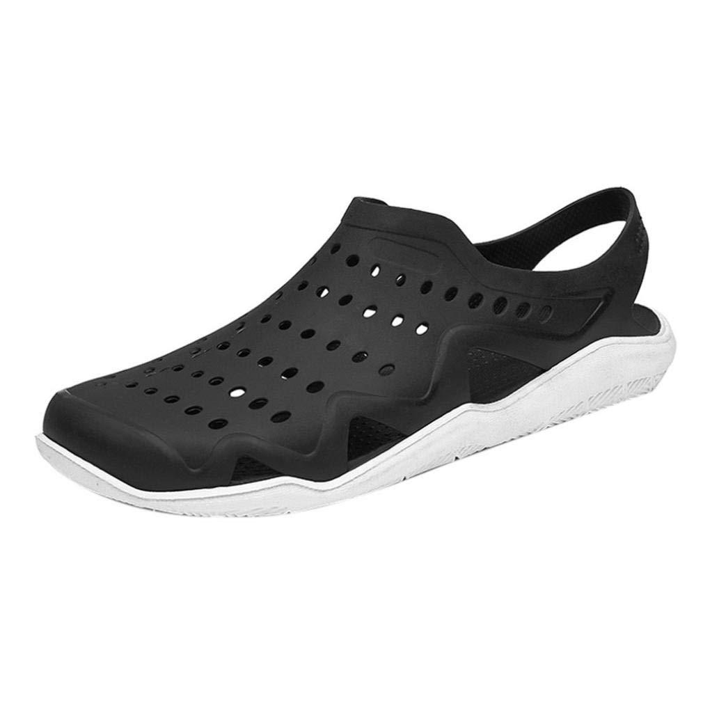 FORUU Outdoor Casual Sandals Walk Beach Flip Flops Flat Men Hollow Light Shoes Slipper
