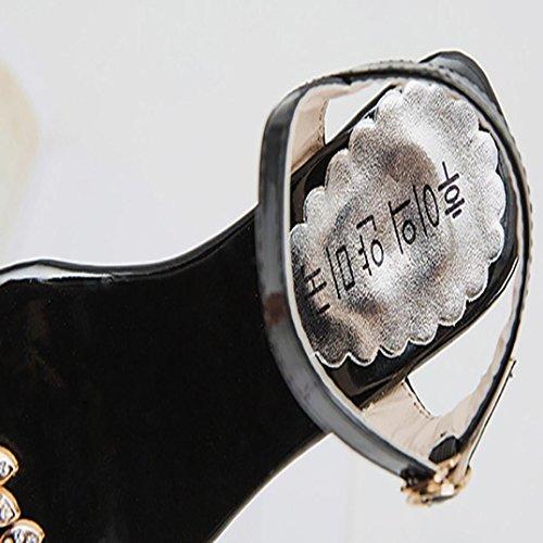 Tacon ZARLLE Sandalias 2018 Zapatillas De Flops De Zapatillas Mujer De Mujer Slim Libre Zapatilla Verano Sandalias Chanclas Negro Playa De Al Aire De Flip Verano Interior Flores AE0qpcWw
