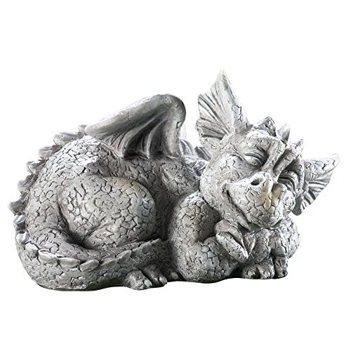 Amazon.com : Mythical Sleeping Baby Dragon Garden Sculpture Left : Patio,  Lawn U0026 Garden