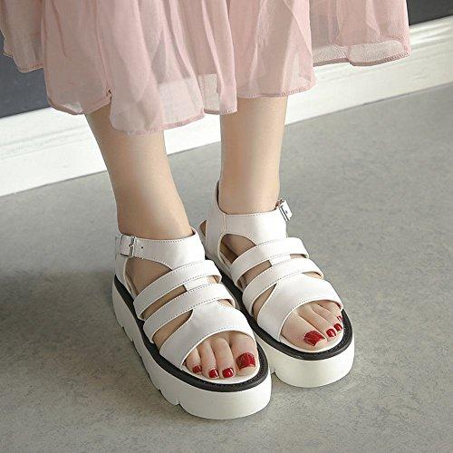 Mee Sandalen Damen Weiß Keilabsatz s Slingback Shoes rwHWnrqXp