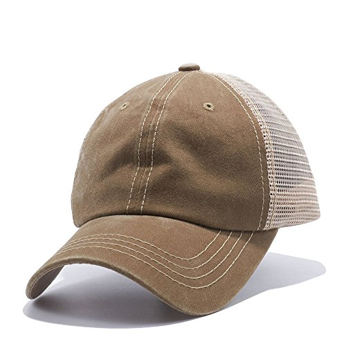 The Hat Jungle Plain Dyed Trucker Dad Hat Unstructured Buckle Strap Baseball Cap