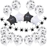 Halloween Decoration Kit Cobweb Balloons Set Spider Garland Banner Star Foil Ballon Horror Party Supplies