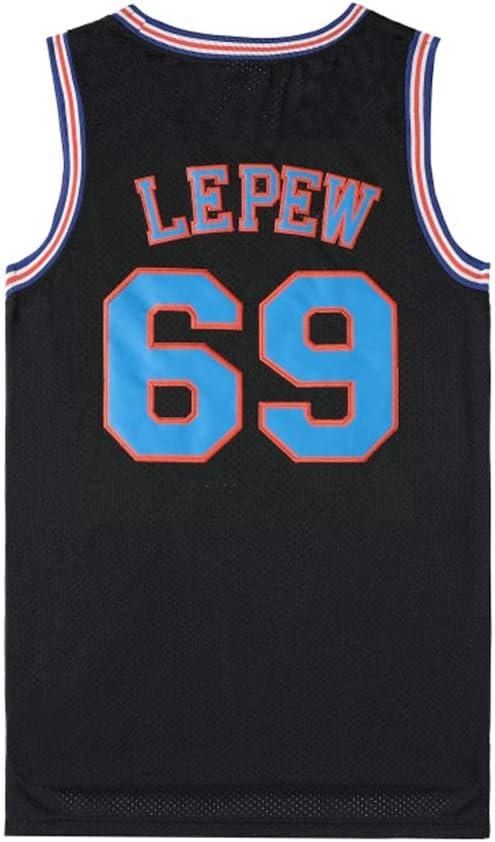 Unisex Sleeveless T-shirt Tune Squad New Fabric Mens Basketball Jerseys Basketball Uniform Movie Version Swingman Jersey Black