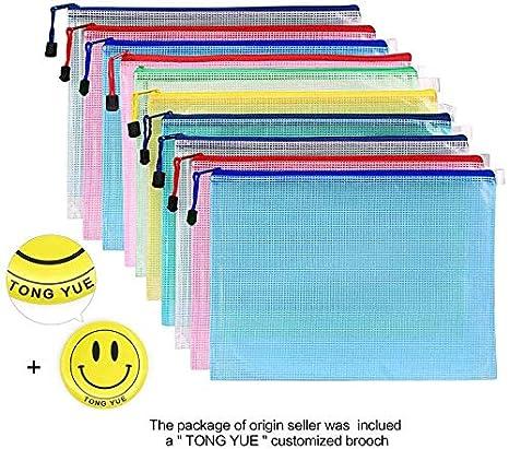 Transparent Travel Organizer Pouch Bags with Zipper TLBTEK 15 Parks A4 Zip Mesh File Document Filing Folder Wallet Bag Bulk Waterproof Office School Plastic Files Storage Holder Case