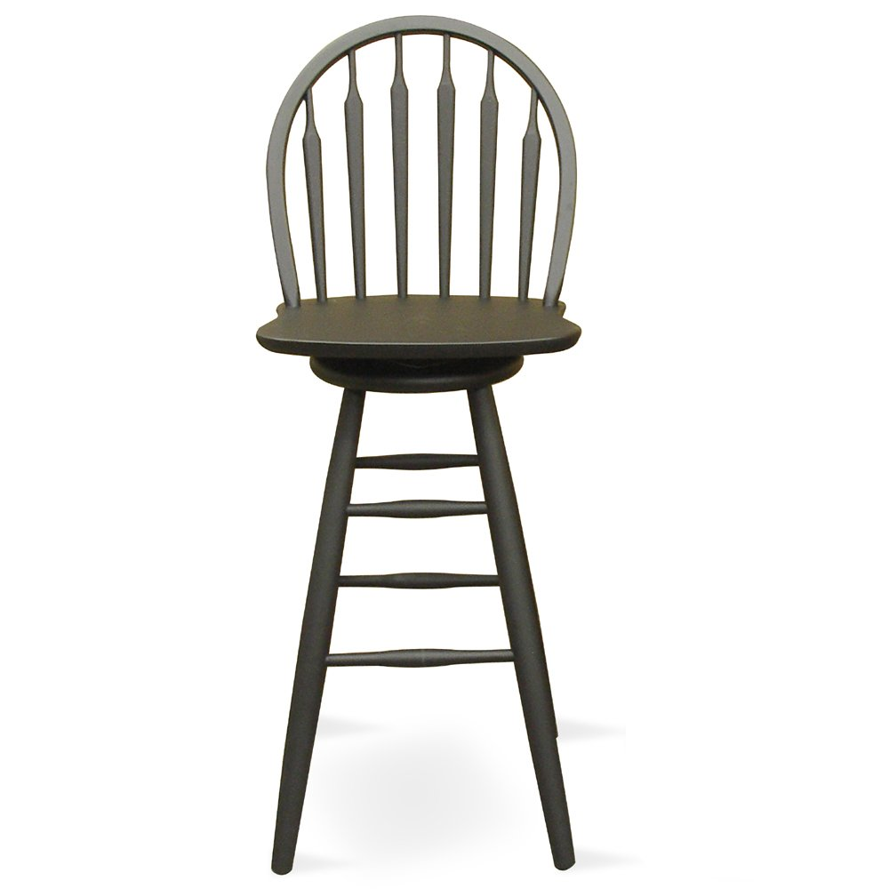 Amazon.com International Concepts S46-612 24-Inch Windsor Arrow Back Swivel Bar Stool Black Kitchen u0026 Dining  sc 1 st  Amazon.com & Amazon.com: International Concepts S46-612 24-Inch Windsor Arrow ... islam-shia.org