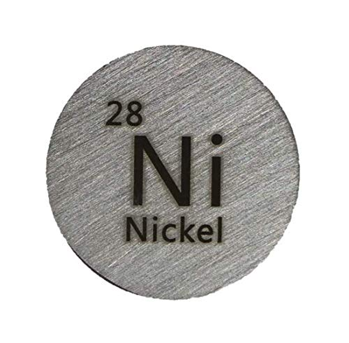 24.26mm Metal Disc 99.9/% Pure for Collection or Experiments Ni Nickel