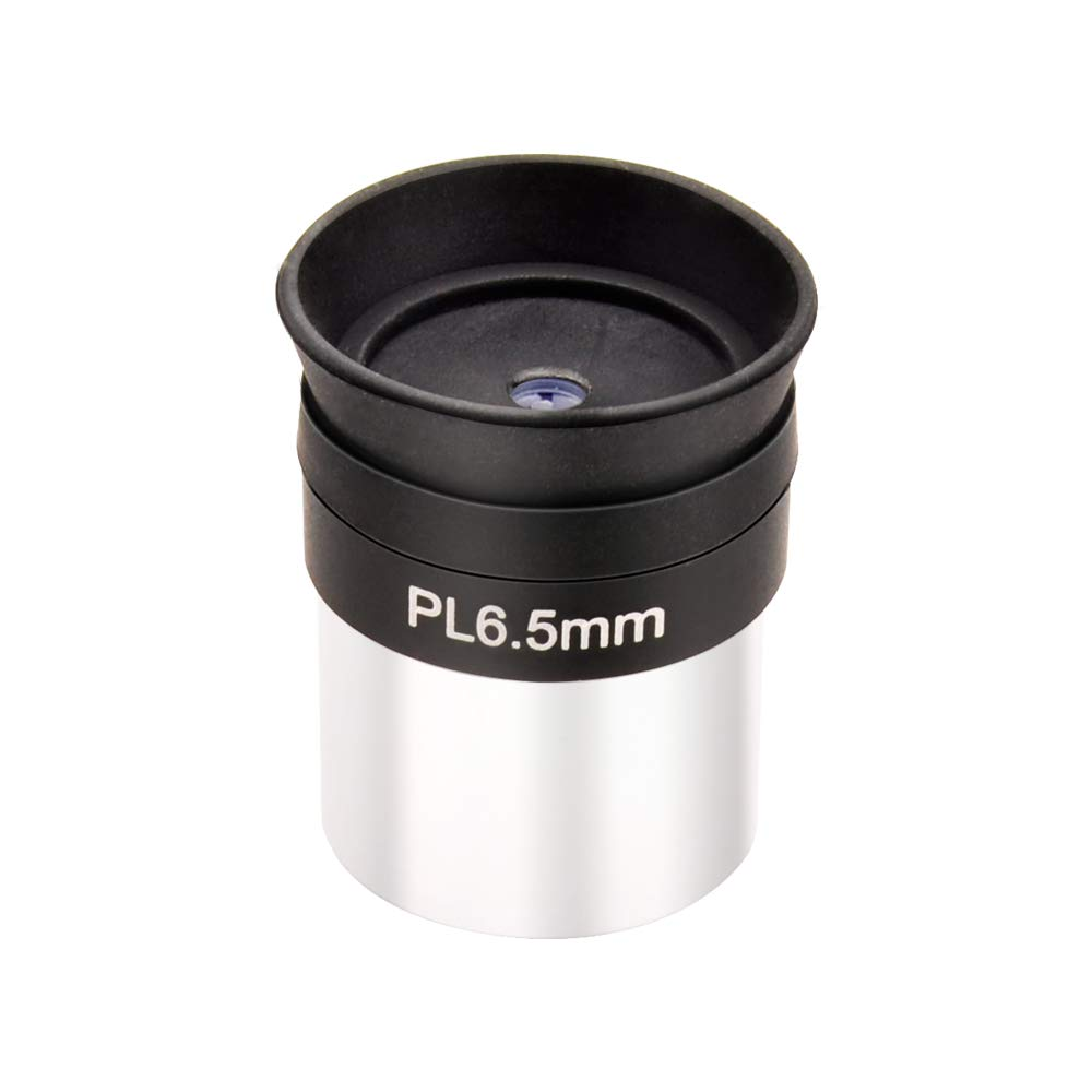 Fully Coated 6.5mm Plossl Telescope Eyepiece with 52 Degree FOV Threaded for Standard 1.25 Telescope Filters and Other Devices