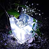 H+K+L 150 LED Beads String Lights with Solar Powered, Copper Wire Lights for Weddings, Hotels, Commercial Buildings, Festive Decorations, Home Furnishings (White)