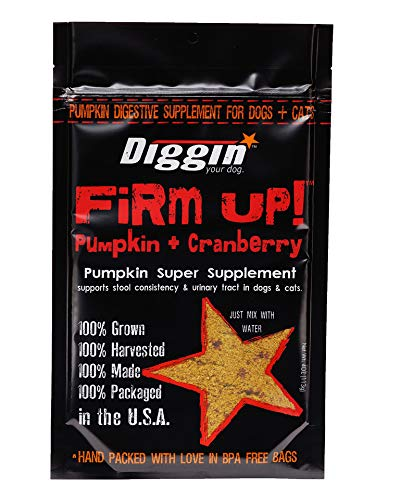 Diggin Your Dog | Firm Up! | Cranberry Pumpkin Super Supplement | GMO free | Digestive & Urinary Tract Support | 4oz Bag