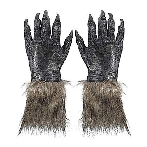 Halloween Horror Nights Werewolf (Wolf Claws Gloves Latex Horrific Werewolf Monster Costume Props Horror Nights Halloween Party)