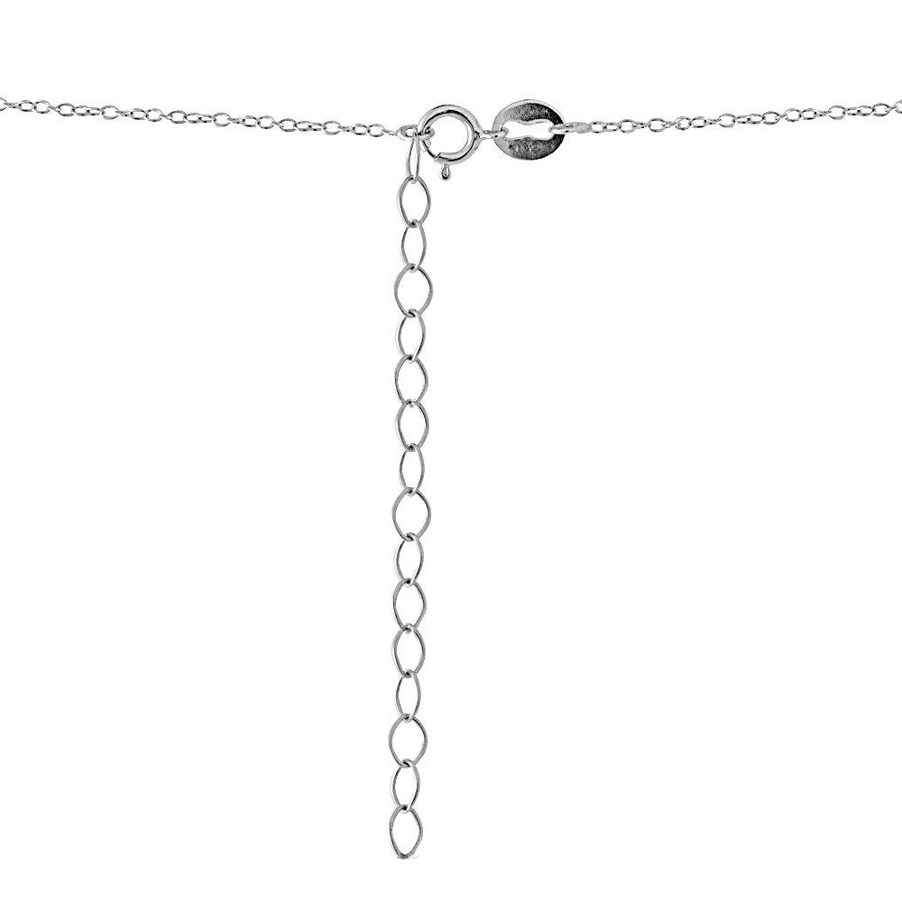 Sterling Silver Cubic Zirconia Teardrop Pave Dainty Choker Necklace by GemStar USA (Image #4)