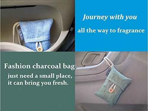 CloudWorld 100% Natural Auto purificador de aire de bambú bolsa de carbón / ambientador de aire para el refrigerador, congeladores, closet, coches y Calzado ...