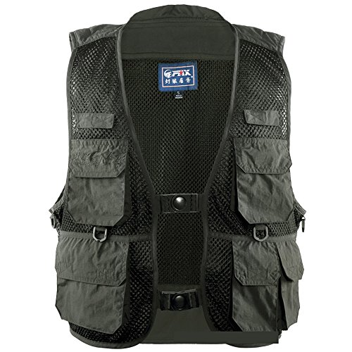 A Point Men's Safari Vest with Extra Pockets Outdoor Fiel...