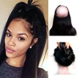 Bellishe Remy Hair Extensions Human Hair 360 Lace Frontal Closure Brazilian Hair Straight Virgin Human Hair Natural Full Lace Wig Natural Color Length(18inch)