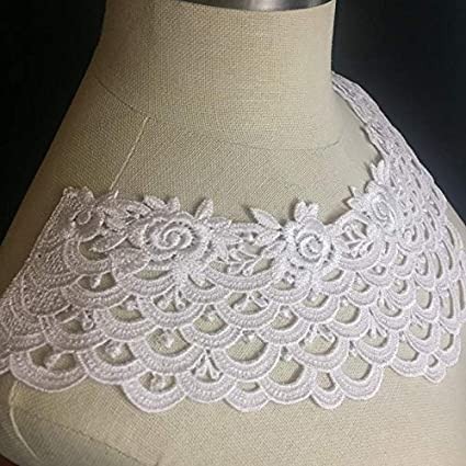 black collar embroidered patch lace YOKE chest applique motif dress costume