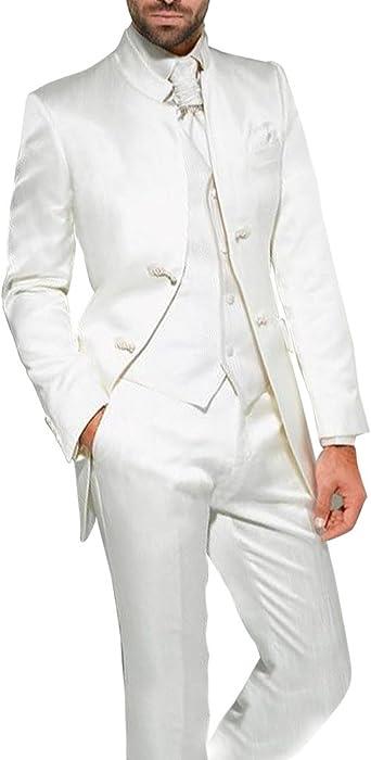 b7c220dc2c1 Hommes 3 Pi¨¨ces stand-up costumes smoking f¨ºte de mariage costume col  veste