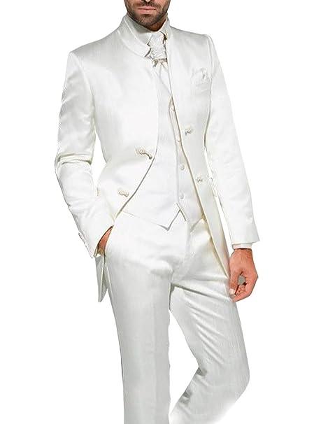 Suit Me Set de 3 unidades cuello alto trajes de esmoquin traje de fiesta de  la boda de la chaqueta 198f0446740