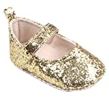 Winter Snow Boots,Thenlian Toddler Girl Soft Sole Crib Shoes Sequins Sneaker Baby Shoes(Age:0~6 Month, Gold)