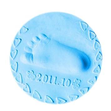 Shop Story - Molde autodurcissant para huella de pie y mano para bebé y niño - azul: Amazon.es: Hogar