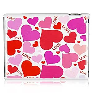 get Pink Love Heart Plastic Back Case for iPad 2/3/4