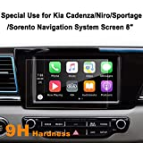 Kia Cadenza Niro Sportage Sorento 8 Inch Car Navigation Screen Protector,LFOTPP [9H] Tempered Glass Infotainment Center Touch Display Screen Protector Anti Scratch High Clarity