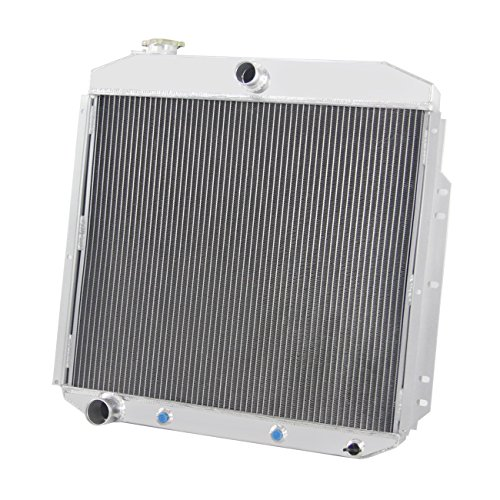 Primecooling 3 Row Full Aluminum Radiator for Ford F-100 F-250 F-350 Pickup Truck 1953-56 (F100 56 Ford Pickup)