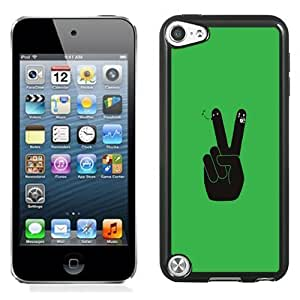 New Personalized Custom Designed For iPod Touch 5th Phone Case For Cartoon V Sign Phone Case Cover