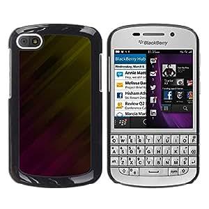Tonos de colores opuestos - Metal de aluminio y de plástico duro Caja del teléfono - Negro - BlackBerry Q10